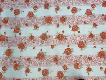 Baumwollstoff Rose-Streifen